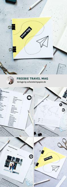 Freebie zum Ausdrucken: Kostenloser Reiseplaner / Reisetagebuch | gratis Printable von schereleimpapier.de | Printable free deutsch | Travel Mag | Travel Planner | Travel Journal Ideen | Druckvorlage | #diy #freebie #printable #travel
