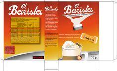 Proyecto 5to año Creación de marca para café en Saquitos. Nombre de marca: El Barista Diseño de caja de producto