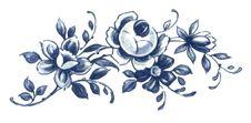 Blue Delft Floral