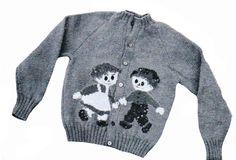 50s Knit O Graf 300 Knitting PATTERN Raggedy Ann Andy Cardigan pullover Sweater #KnitOGraf300