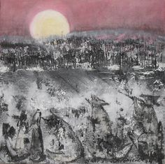 Reidar Särestöniemi: Sudet laulavat viimeisen laulunsa (1974) Paintings I Love, Oil Paintings, Lapland Finland, Around The World In 80 Days, Nocturne, Contemporary Paintings, Landscape Paintings, Abstract Art, Artsy