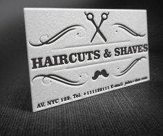 20 creative examples of barbershop business card design a showcase of letterpress barber shop business cards idea in retro style colourmoves
