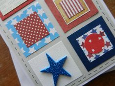 Patriotic, of July, Military, Honor Flight, Veterans Day Handmade Greeting Card with stars and stripes Military Cards, Military Veterans, Veterans Day, Honor Flight, Greeting Cards Handmade, American Flag, 4th Of July, Card Stock, Stripes