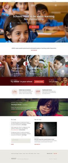 XSEED website on Behance