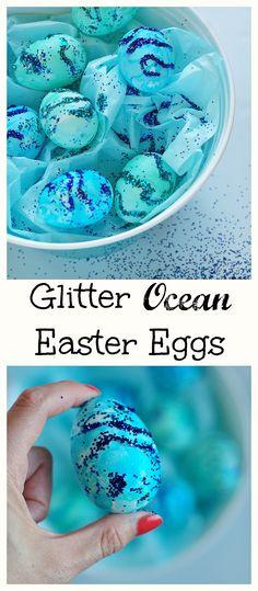 Glitter ocean easter