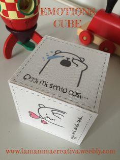 Il cubo delle emozioni. Emotions cube.