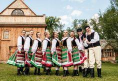 Folk costumes from Podlasie Nadbużańskie (areas along the Bug river in Podlasie region), Poland.
