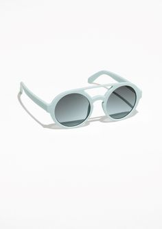 & Other Stories Round Frame Sunglasses in Blue