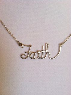 A personal favorite from my Etsy shop https://www.etsy.com/listing/126262204/sterling-silver-faith-necklace-with-2mm