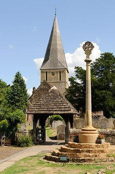 James church, Shere, Surrey, England where the 'Wedding Date' was filmed Cathedral Basilica, Cathedral Church, Houses Of The Holy, English Village, Kingdom Of Great Britain, Old Farm Houses, Old Churches, Place Of Worship, English Countryside