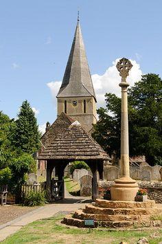 St. James church, Shere, Surrey, England