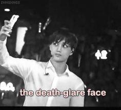 EXO Kai (Jongin) bw taking selcas from the death glare face to happy maniac face from Kai to Jongin