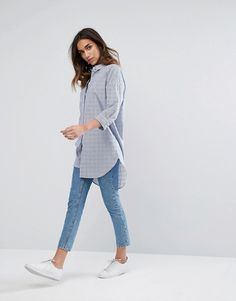 JDY Long Sleeve Stripe Shirt at ASOS. Shop this season's must haves with multiple delivery and return options (Ts&Cs apply). Striped Long Sleeve Shirt, Fashion Online, Asos, Normcore, Shirts, Outfits, Clothes, Shopping, Style