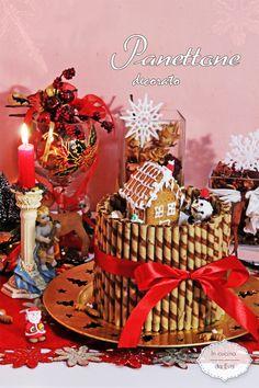Panettone decorato | panettone decorato con video ricetta