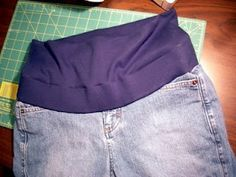 How to convert regular jeans to maternity jeans, such a good idea to save money and get the style/size you want regardless of pregnancy!