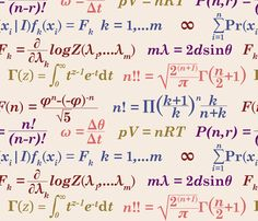 Awesome nerdy fabric - will need to make amazing nerdy panties!  equations and equations fabric by primenumbergirl on Spoonflower - custom fabric