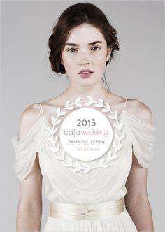 2015 SAJA Wedding Collection. #weddingchicks See it here: http://www.weddingchicks.com/2014/09/09/saja/