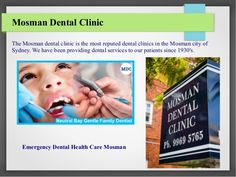 Visiting our #Mosman_Dental for #emergency_dental_health_care,  an emergency dentist would be able to attend to your problems. Our dental clinic would be well equipped with the latest machinery and equipments, also helps to overcome your pain.