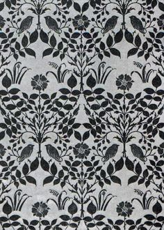 Wallpaper design by Charles Francis Annesley Voysey, produced in 1908