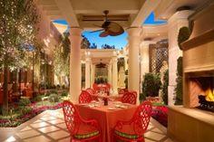 Luxury Italian Restaurant Interior Design of Sinatra, Las Vegas Patio - NEVADA BY DESIGN | Design Gallery