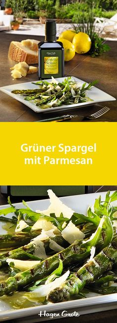 Grüner Spargel mit Parmesan
