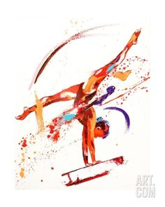 Gymnast One, 2010 Giclee Print by Penny Warden at eu.art.com