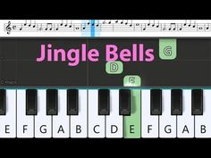 How to play Jingle Bells, Easy Piano Tutorial for Beginners Easy Piano Songs, Piano Tutorial, Jingle Bells, Music Notes, Play, Learning, Easy Songs For Piano, Studying, Teaching