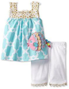 Amazon.com: Mud Pie Baby-Girls Newborn Crochet Fish Tunic and Legging: Clothing