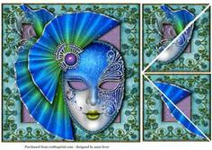 Beautiful Blue Masque & Rose Frame