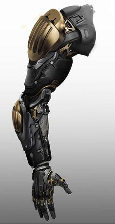 Arms (no shit sherlock) Robot Concept Art, Weapon Concept Art, Armor Concept, Armadura Sci Fi, Armadura Ninja, Futuristisches Design, Robot Design, Media Design, Armadura Cosplay