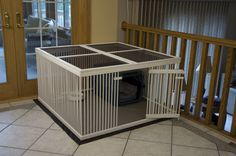 dog room kennel built ins - Dog Kennel Wooden Dog Crate, Large Dog Crate, Wood Dog, Dog Crates, Dog Playpen, Dog Kennels, Puppy Pens, Round Dog Bed, Crate Bed