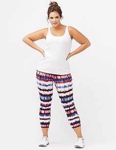 The cropped classic for comfort and ease, our active capri legging is a game changer with a vibrant print. Signature Stretch is our go-anywhere, do-anything cotton blend, offering natural breathability, with stretch for extra flexibility and durable support. Pull-on style. lanebryant.com