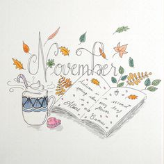 Hello November!  Let's just hope that you won't be as crazy as October was and that you'll bring a lot of warm tea and great books instead • • • • #bulletjournal#planner#bujo#bulletjournaling#bulletjournaljunkies #dailies #weekly#leuchtturm1917#plannercommunity #showmeyourplanner #doodle #personalplanner @personnal#stabilo #autumn #wreath#october #planning #uni #tombow @showmeyourplanner #micron #plants