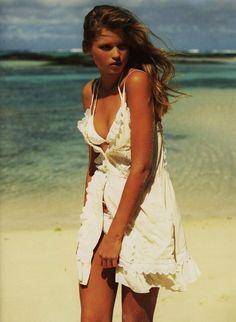 love her white swim suit & coverup.