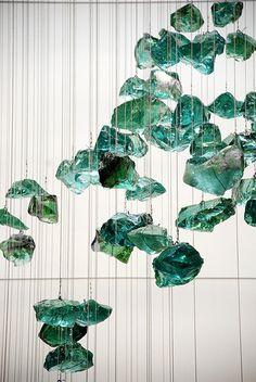 Hanging Sculpture by Jocelyn Bassler Chandelier Art, Luxury Chandelier, Pendant Lighting, Chandeliers, Custom Lighting, Lighting Design, Ceiling Lamp, Ceiling Lights, Restaurant Lighting
