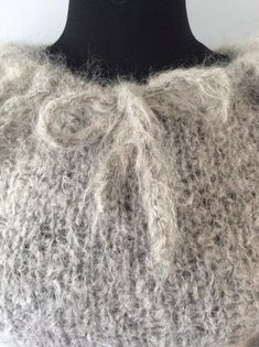 Your place to buy and sell all things handmade Mohair Sweater, Snug, Hand Knitting, 1960s, Weaving, Gray, Crochet, Lace, Pretty