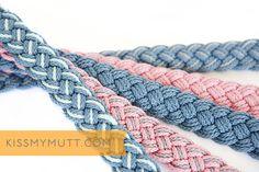 Kiss My Mutt® 'Coastal Collection' Braided Leashes. www.kissmymutt.com