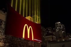 McDonald's great ambient  #ambient #marketing #lights #food
