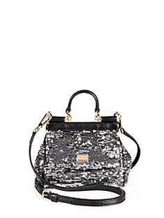 653deb705018 Dolce   Gabbana - Mini Miss Sicily Sequined Satchel Dolce And Gabbana  Purses