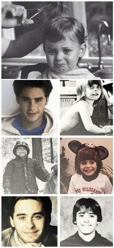 Jared Leto's childhood and youth photos.
