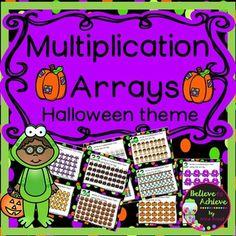 Multiplication Array Task Cards- Halloween Theme…
