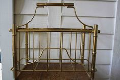 Faux bamboo magazine rack Hollywood Regency by silverbeevintage, $38.00