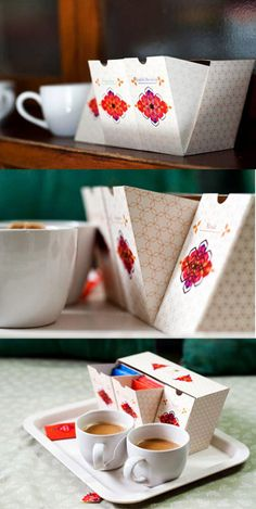 Taj Mahal Tea // packaging with compartments