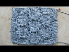 Рельефный узор крупными сотами Вязание спицами Видеоуроки - YouTube