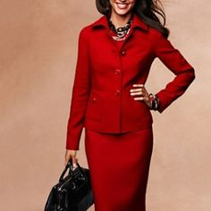 The Power Suit in Red. Work it!