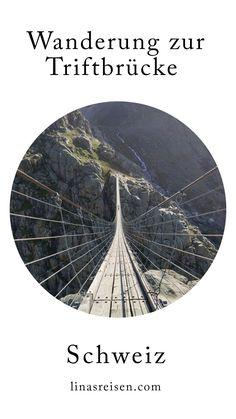 Die Triftbrücke ist ein Wanderhighlight im Gadmertal. Ein absolutes Muss für Wanderer im Berner Oberland. Die Hängebrücke in der Schweiz ist 170 Meter lang und in 100 Meter Höhe... Celestial, Outdoor, River, Explore, Switzerland, Hiking, Outdoors, Outdoor Games