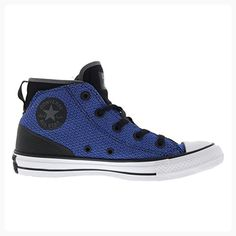 Converse Womens Chuck Taylor All Star Syde Street Mid Black Blue Mesh Trainers 4 UK (*Partner Link)