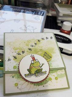 card making tutorials stampin up Elf - cardmaking Stampin Up Karten, Stampin Up Cards, Kids Cards, Baby Cards, Diy Birthday, Birthday Cards, Making Greeting Cards, Card Making Tutorials, Spring