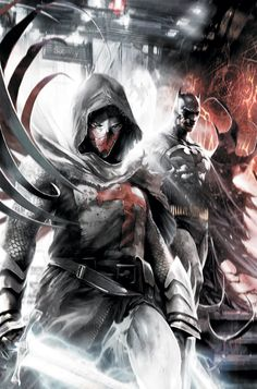 Azrael & Batman by Francesco Mattina