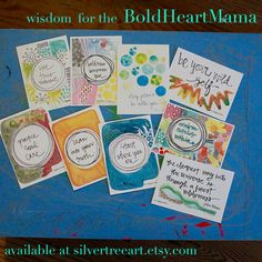 BoldHeartMama Wisdom Deck ::Giveaway:: Use them as reflections, reminders, mantras, encouragements, blessings, affirmations, and more. Share them with a friend, hang them up where you can see them always, tuck them away for just the right moment.